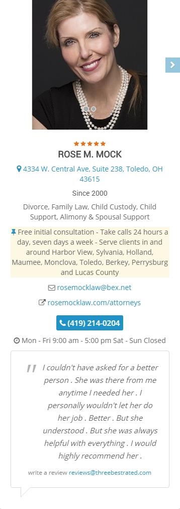 Toledo Attorney Rose Mock